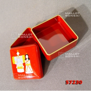 Mini bento carré rouge 57230-8
